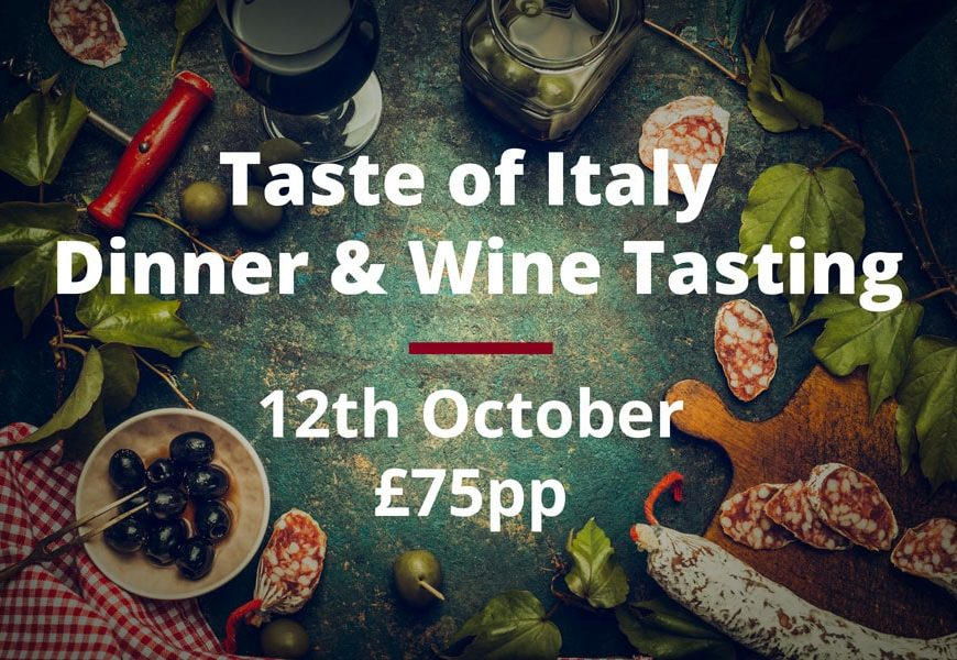 Join Us For a Taste of Italy