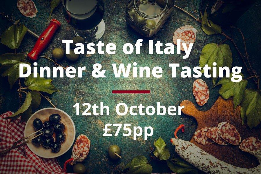 Taste Of Italy Dinner And Wine Tasting S