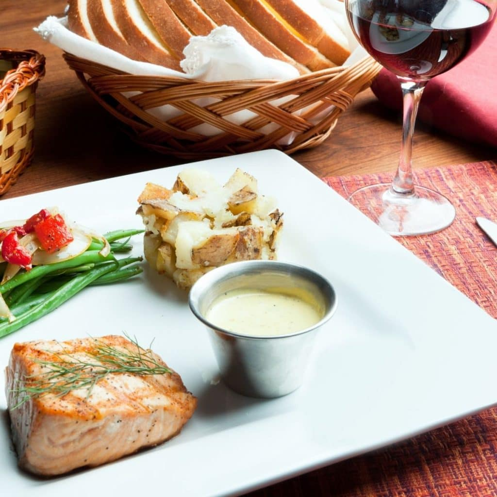 Beaujolais And Salmon