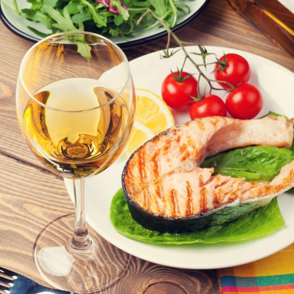 Sauvignon Blanc And Salmon