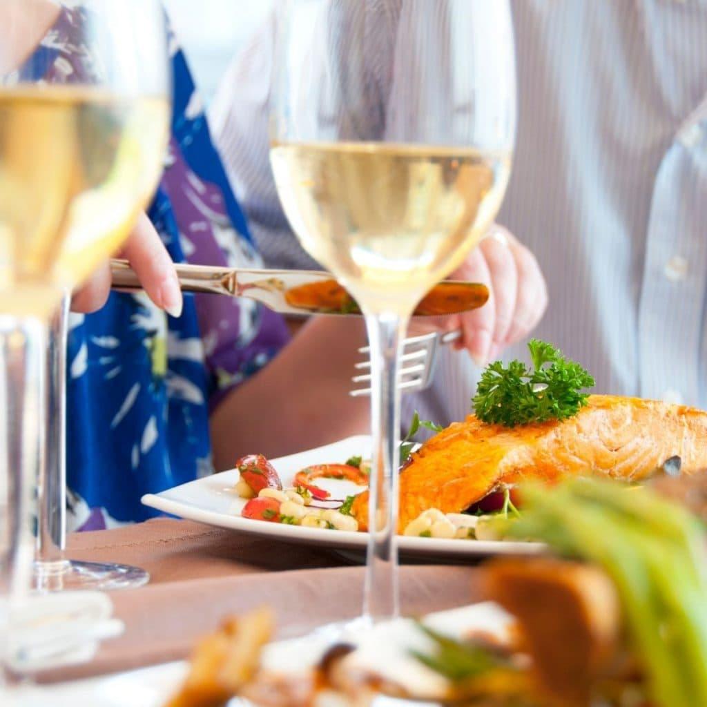 Chardonnay And Salmon