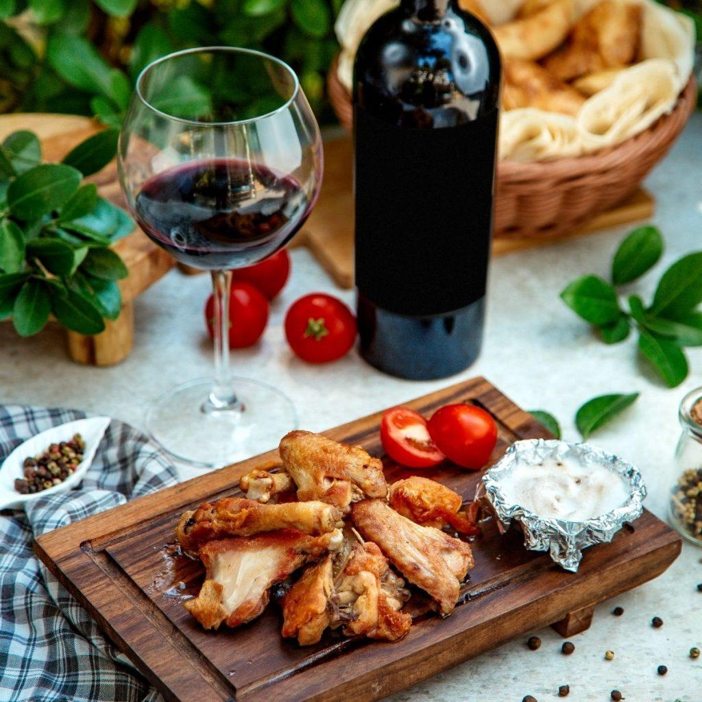 Zinfadel Wine And Chicken